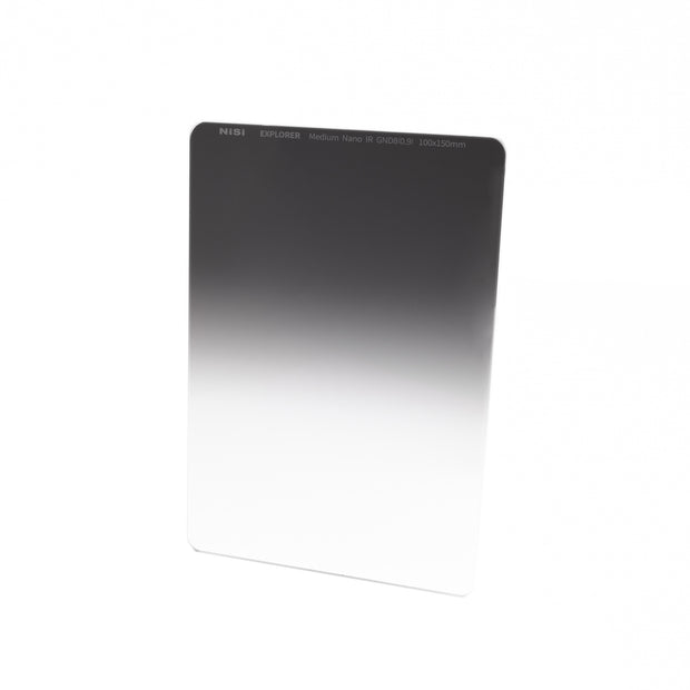 NiSi Explorer Collection 100x150mm Nano IR Medium Graduated Neutral Density Filter - GND8 (0.9) - 3 Stop