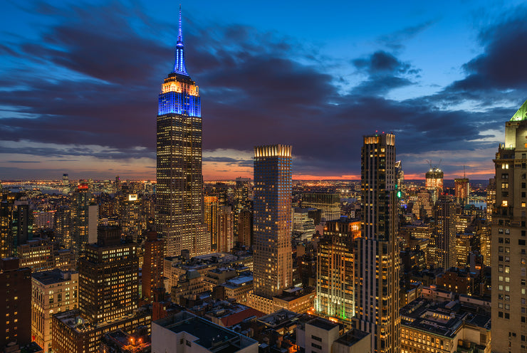 Empire State Building in New York City after sunset by Kirit Prajapati