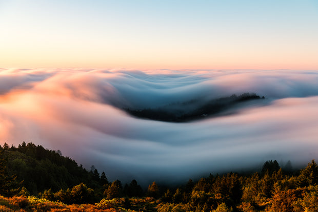 Mt Tamalpais sunrise fog wave