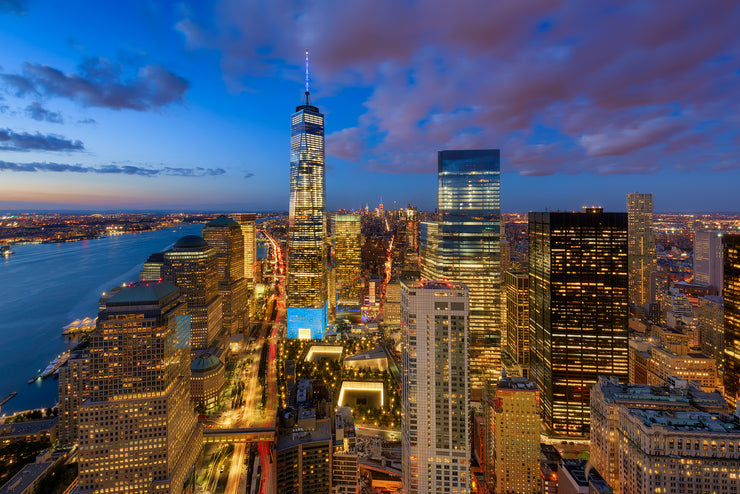 New York City during blue hour by Kirit Prajapati