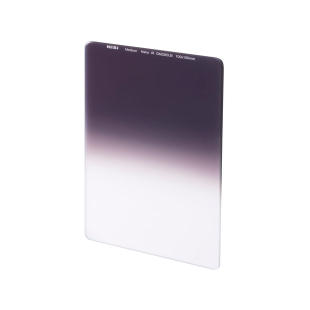 NiSi 100x150mm Nano IR Medium Graduated Neutral Density Filter - ND16 (1.2) - 4 Stop