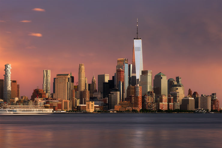 New York City during a stormy sunset by Kirit Prajapati