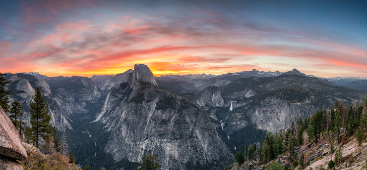 Yosemite glacier point sunrise pano