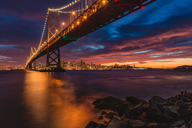 Epic San Francisco Skyline Sunset