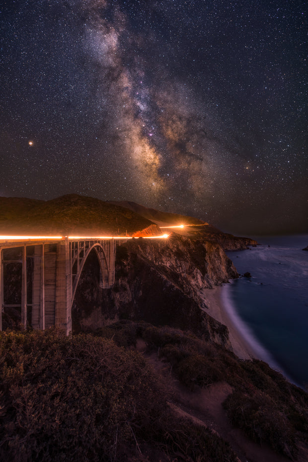 Bixby Bridge big Sur Milky Way