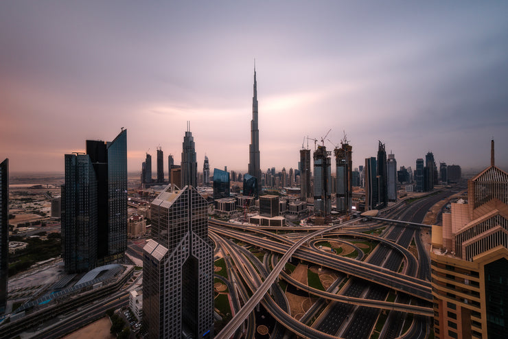 Dubai long exposure rooftop
