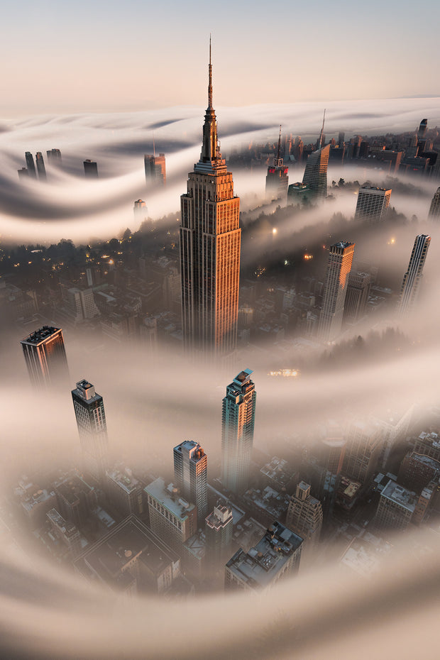 Empire State Building With Fog