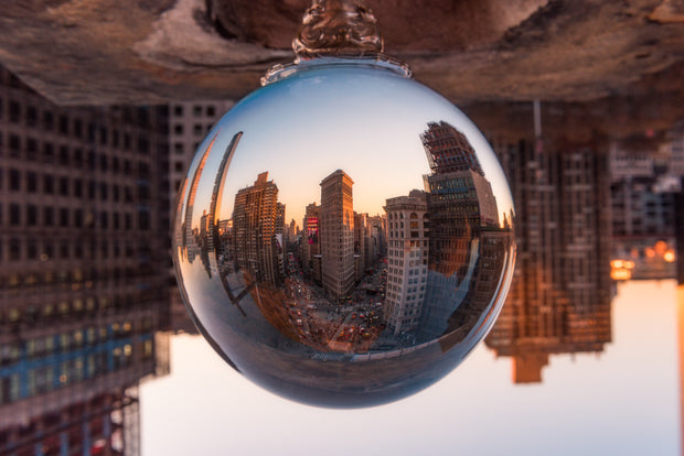 New York city Flat Iron Building rooftop Crystal ball
