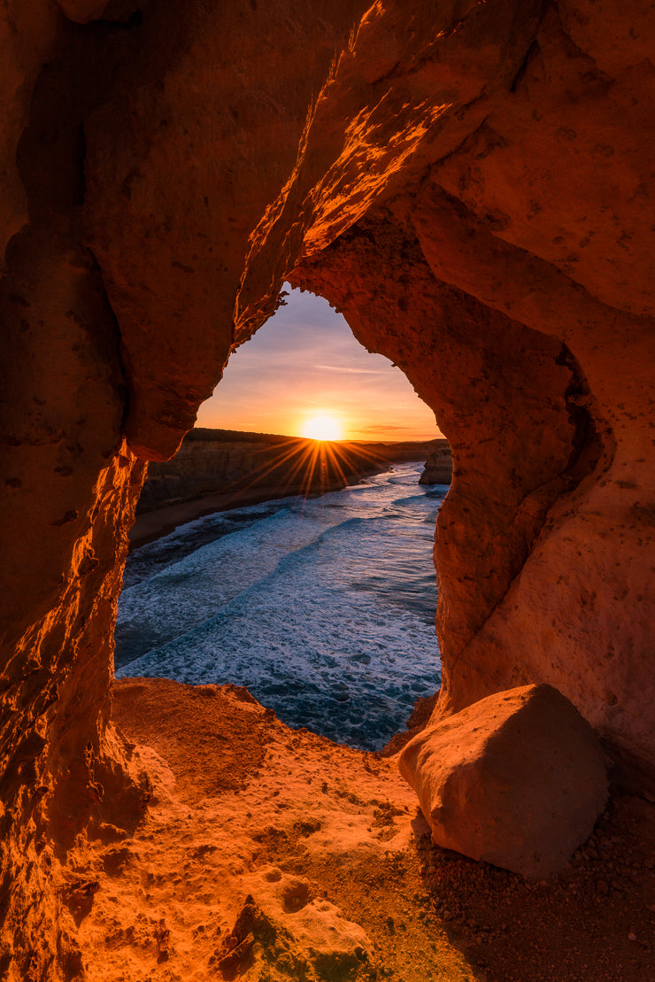 Australia Great Ocean Road Cave Sunrise Photo