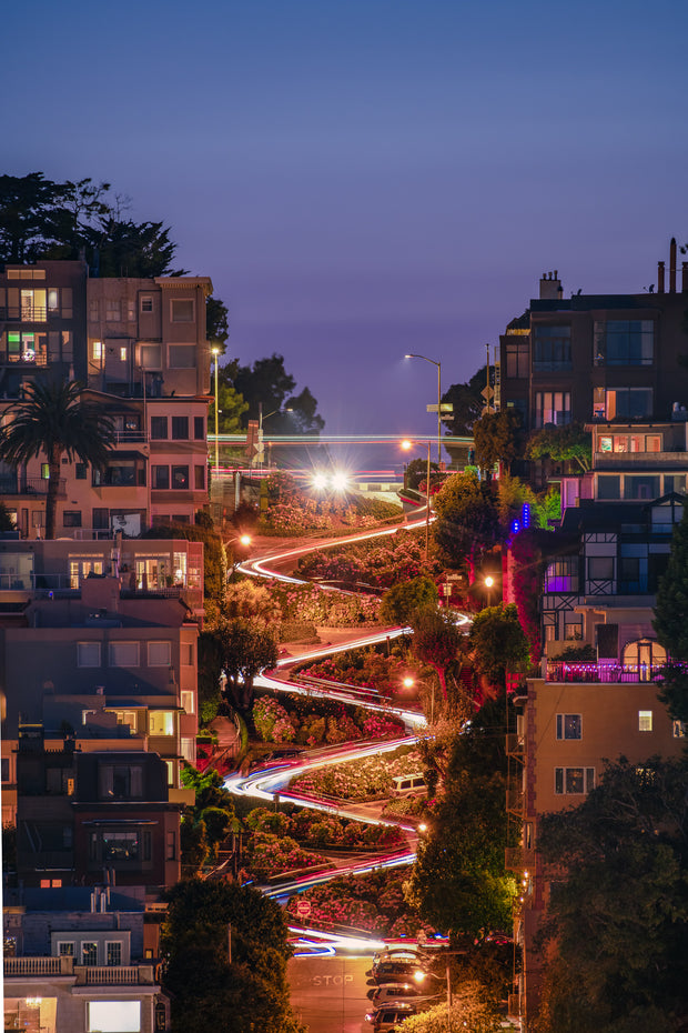 San Francisco Lombard street long exposure