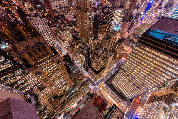 New York City Roof top Look Down