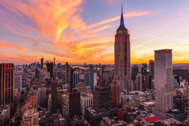 New York City empire State building Sunset 911