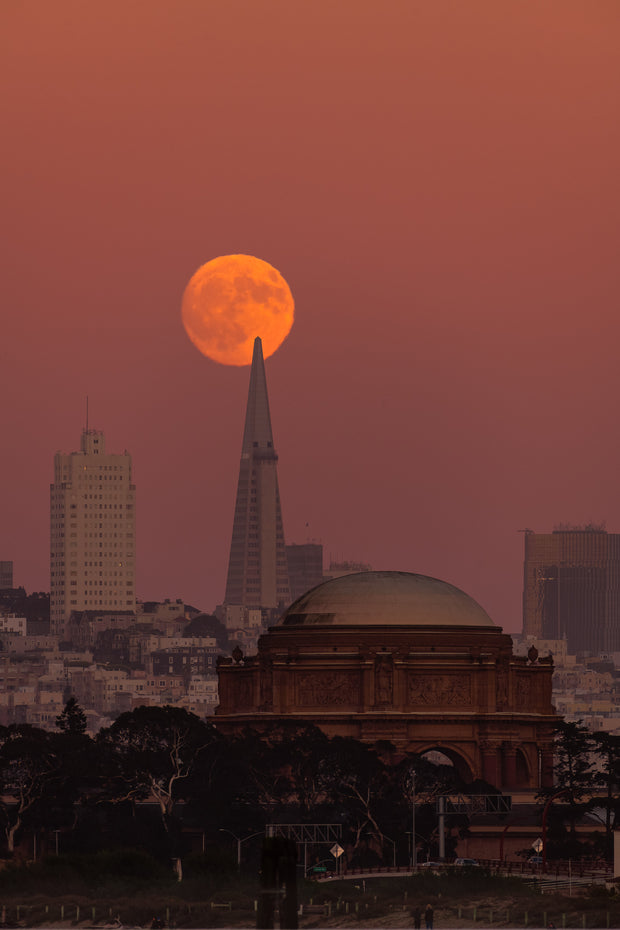 Transamerica building alignment full moon