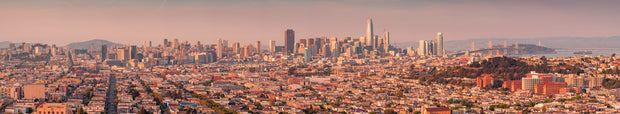 San Francisco panoramic from Bernal Heights