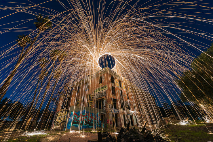 Hot springs Abandon hotel steel wool