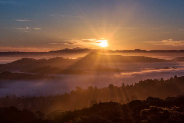 Mount Tam sunrise Valley fog