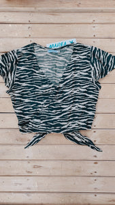 TOP SLEEVE TIGRE GRIS