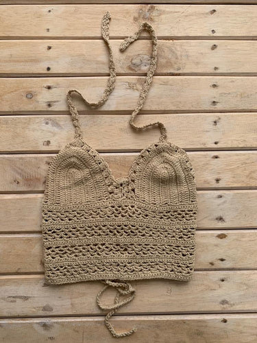 TOP CROCHET BEIGE