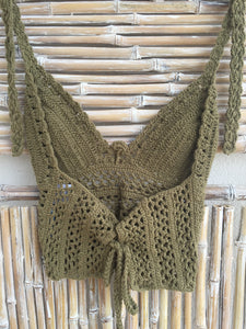 TOP CROCHET KAKI