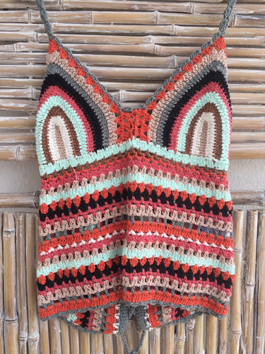 TOP CROCHET MULTICOLOR MERMAID