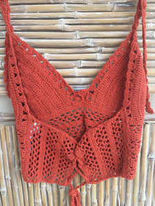 TOP CROCHET NARANJA