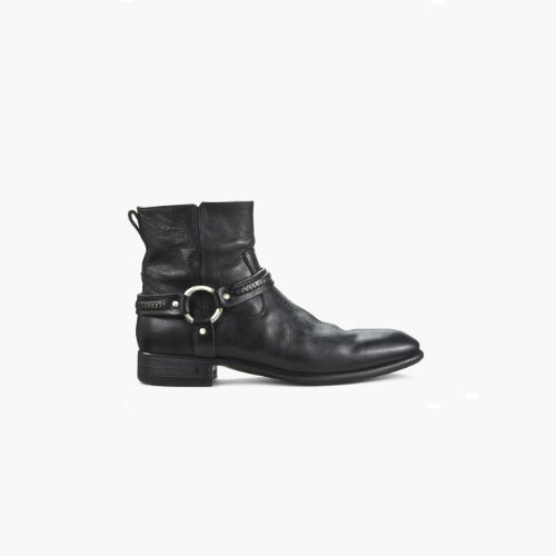 Metal Ring Custom Men's Ankle Boots