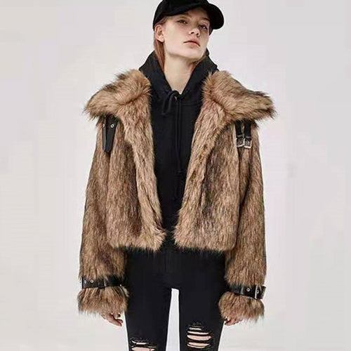 New Warm Fur Women Short Coat