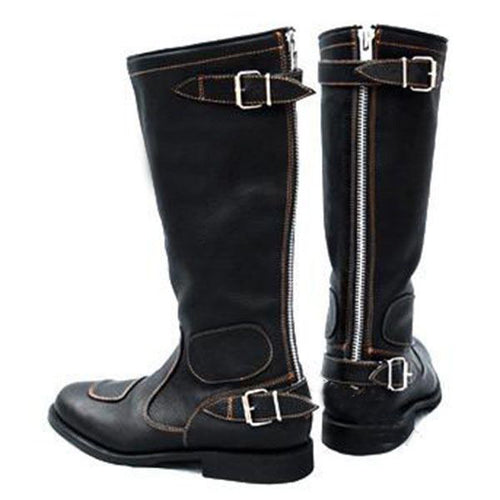 Europe And America High Button Buckle Knight Men's Boots