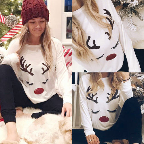 Merry Christmas Cute Moose Print Pajamas