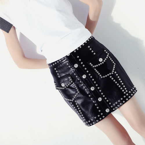 Punk Slim Beaded Skirt