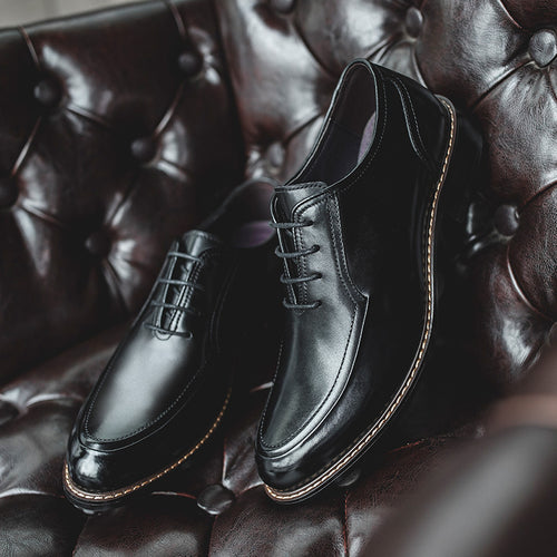 Vintage Men's Lace-up Derby Shoes