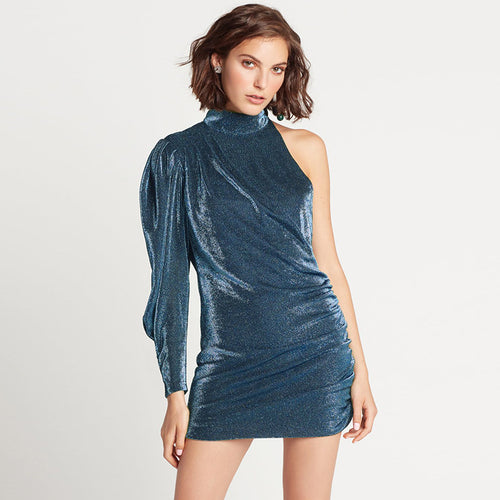 Sexy Off Shoulder Silk Dress