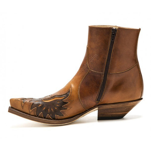 Fashion Mens Leather Sendra Ankle Boots