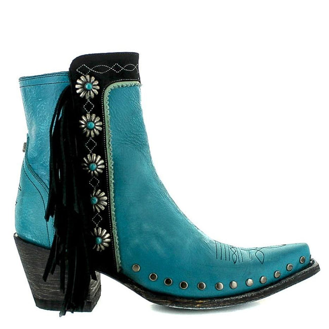 Tassel Metal Flower Decoration Zipper Pointed Boots