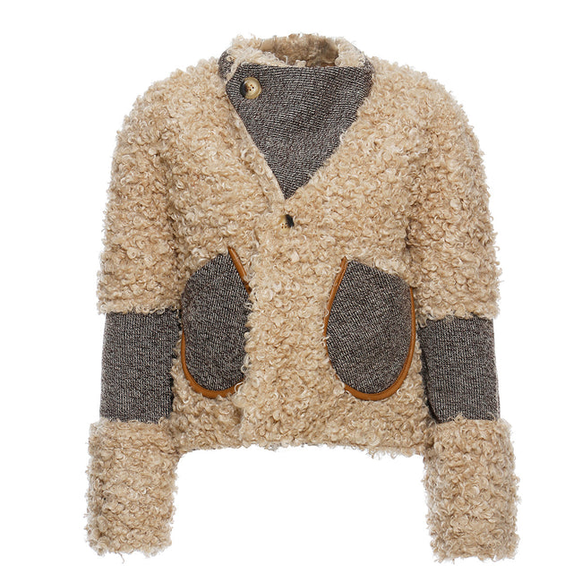 Women's Vintage Lamb Plush Fur Coat