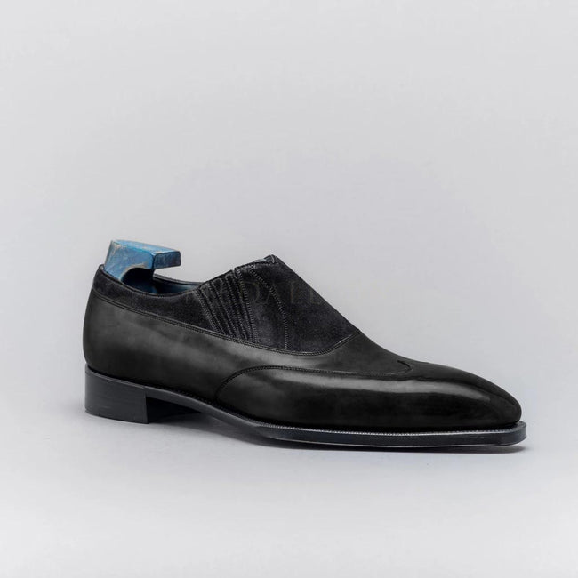 Suede Leather Stitching Handmade Men's Formal Shoes