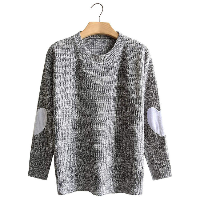 Gorgeous Round Neck Solid Color Leisure Sweater