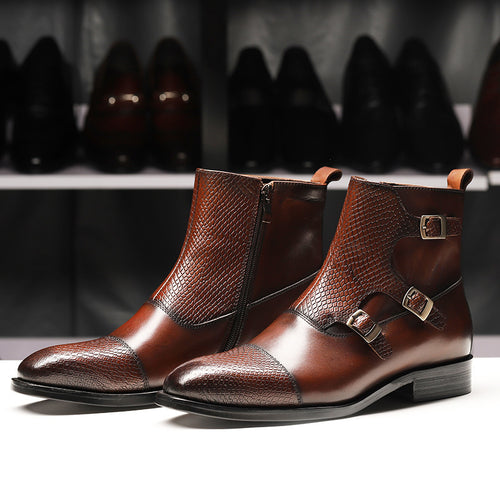 British Pointed Fashionable Leather Men's Boots