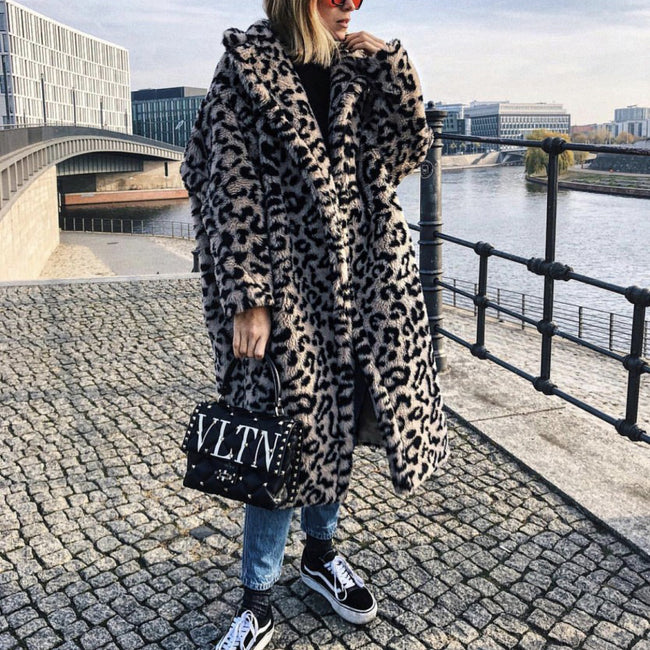 Women's Leopard-print Lambskin Cotton Coat
