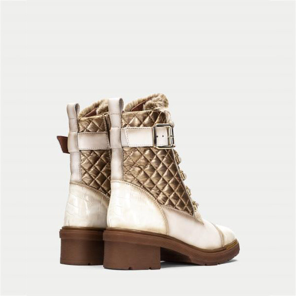 Stitching Buckle Lace-Up Fashion Women's Boots