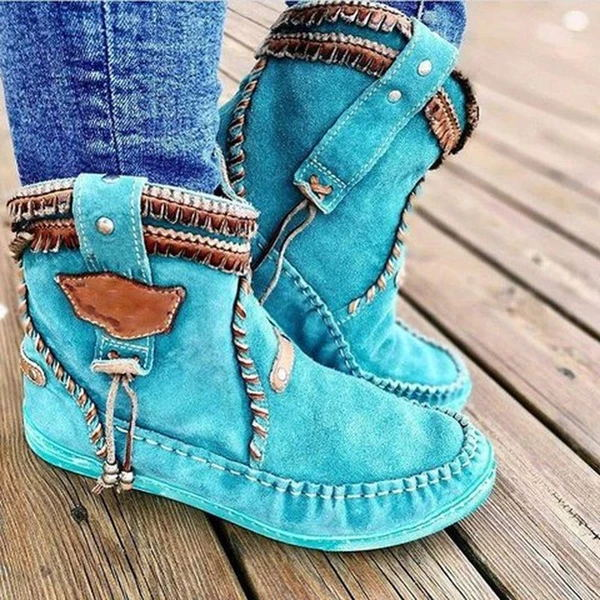 Fashion Vintage Soft Light Ankle Boots