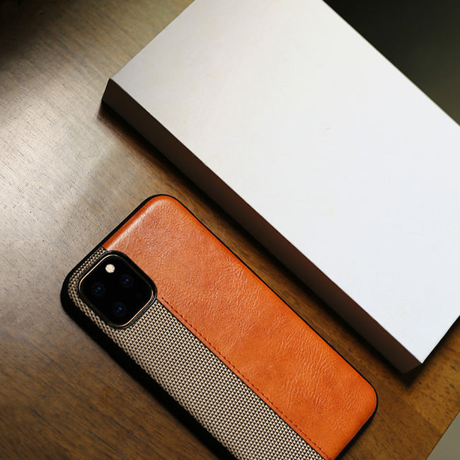 Leather Knitting Qualities Case For Iphone 11 PRO MAX