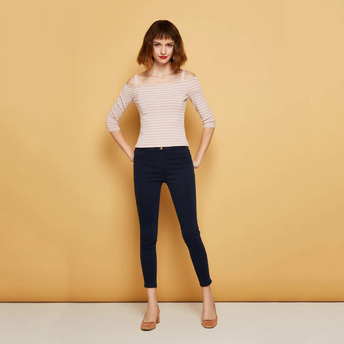 Women Slim wrap stretch denim pants Jeans