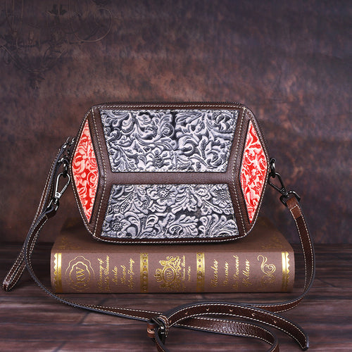 New Embossed Vintage Women's Square Bag