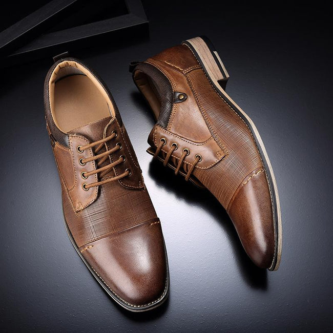 British Business Lace-Up Formal Dress Shoes