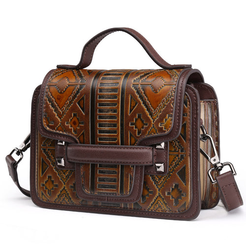 Vintage Buckle Casual Women's Shoulder Bag