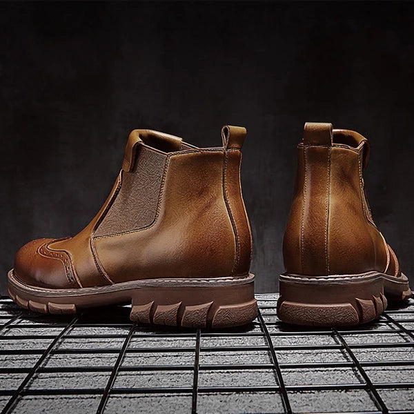 New British Style Leather Chelsea Boots