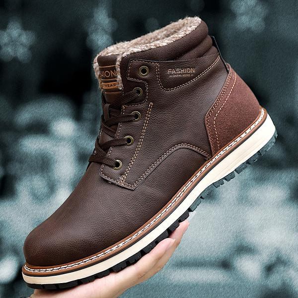 New Fashion Winter Men's Warm Plush Snow Boots