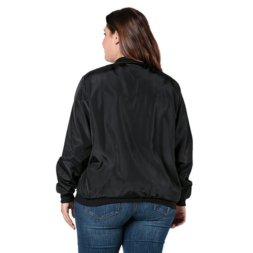 Casual Solid Color Plus Size Women's Jacket