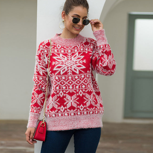 Female Elegance Fancinating Knit Full Sleeve  Baggy Sweater